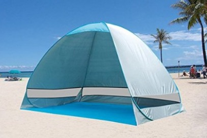 G4Free Outdoor Automatic Pop up Instant Portable Cabana Beach Tent review