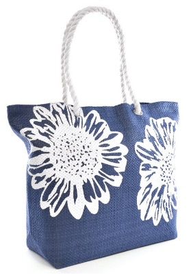 Ladies Womens Large Beach Shoulder Tote Shopping Bag Shopper Carrier Bag Flower review