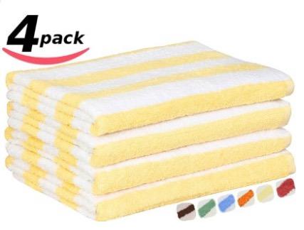 Utopia towels review Large Beach-Towel Pool-Towel in Cabana Stripe