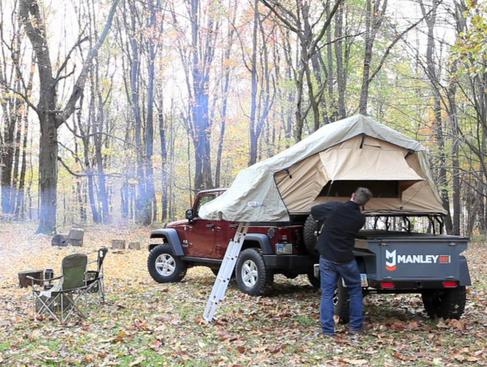 ARB3101 Simpson III Brown folding Rooftop Tent