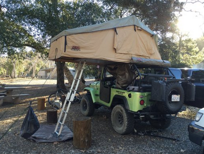review Tuff Stuff Overland Rooftop Camping Tent with Annex Room- Black Driving Cover