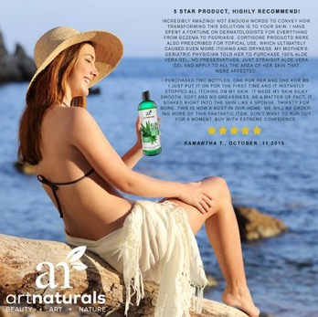 ArtNaturals Aloe Vera Gel for Face, Hair & Body - Organic