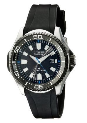 Citizen Eco-Drive Men's Analog Diver's Watch BN0085-01E depth measurement