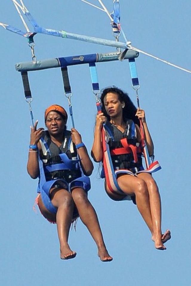 ladies parasailing