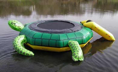 island turtle hopper water trampoline review