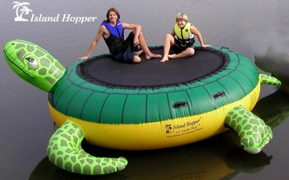 island turtle hopper water trampoline