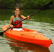 kayaking with life jacket