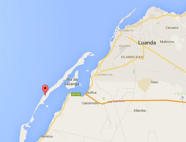 mussulo luanda angola map