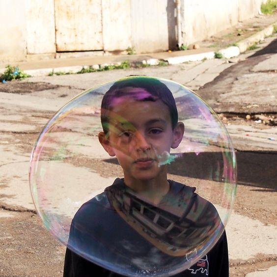 oran algeria boy with bubble