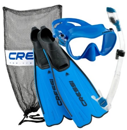 Cressi Rondinella Full Foot Mask Fin Snorkel Set with Bag review
