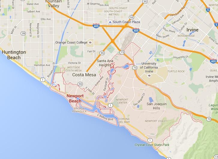 Huntington Beach City Map