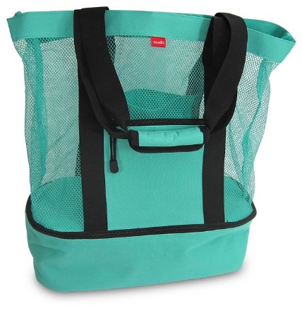 Aruba Mesh Beach Tote Bag with Insulated Picnic Cooler - Large review