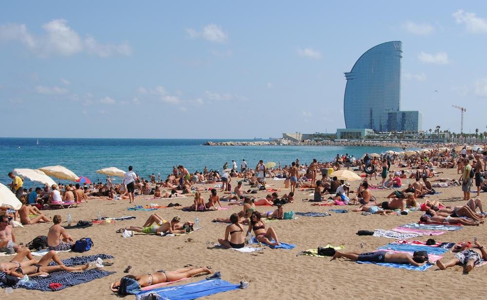 The Steamy Barcelona Beach Spain