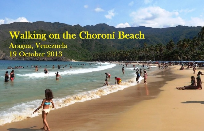 walking on the choroni beach venezuela