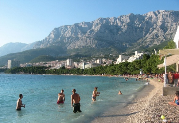 Makarska Beach, Croatia snorkel