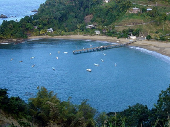 parlatuvier beach caribbean waters