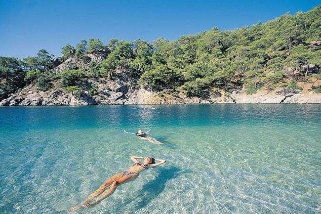 gemile bay beach turkey snorkeling