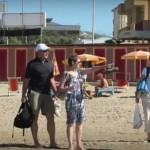 Beach Baby Bob visits San Vincenzo (Rimigliano) Beach Tuscany Italy