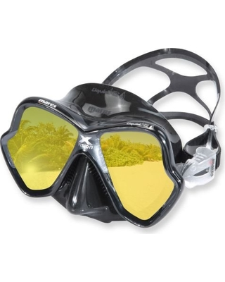 Vision enhanced snorkel mask