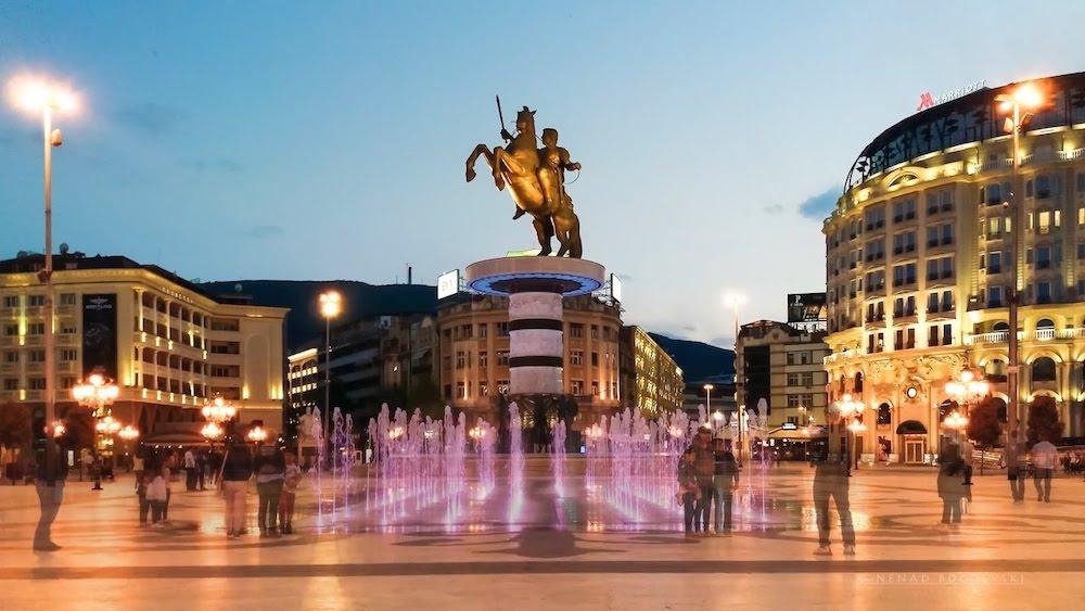 skopje's central square
