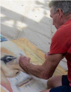 BeachBabyBob paints for The Many Faces of Cambridge