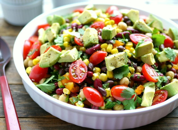 Avocado-and-Three-Bean-Salad-a-favorite-side-dish