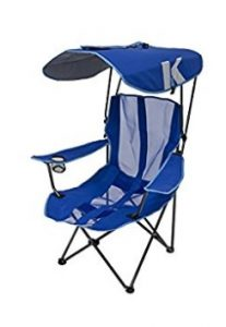 blue canopy chair