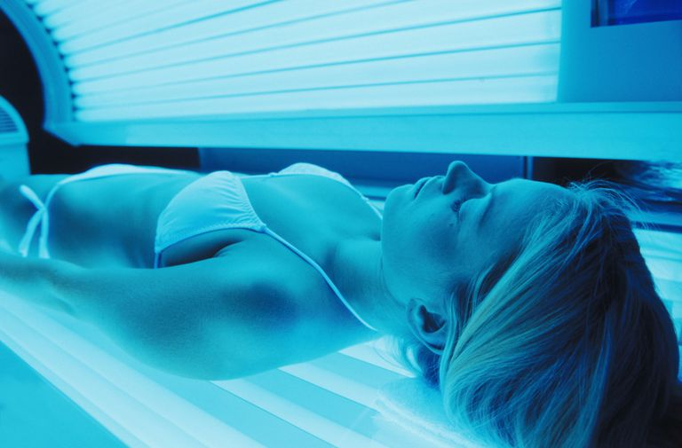 Sunglasses on a Tanning Bed