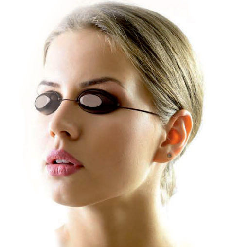 tanning goggles with strap black