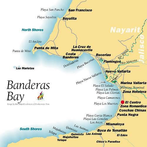 Banderas Bay map