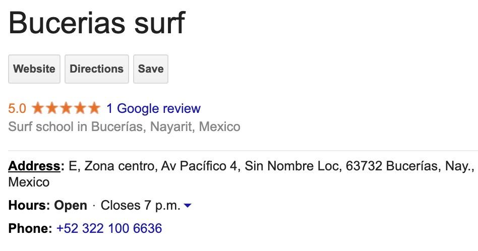 Bucerias Surf rating