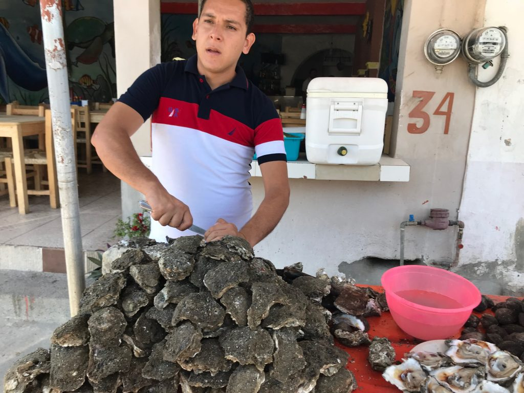 Bucerias Mexico oyster fisherman and restauranteur