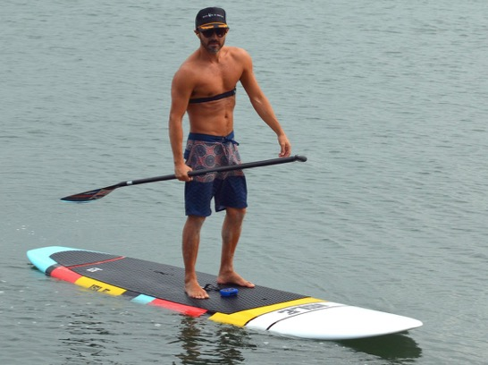 paddle boarder instructor