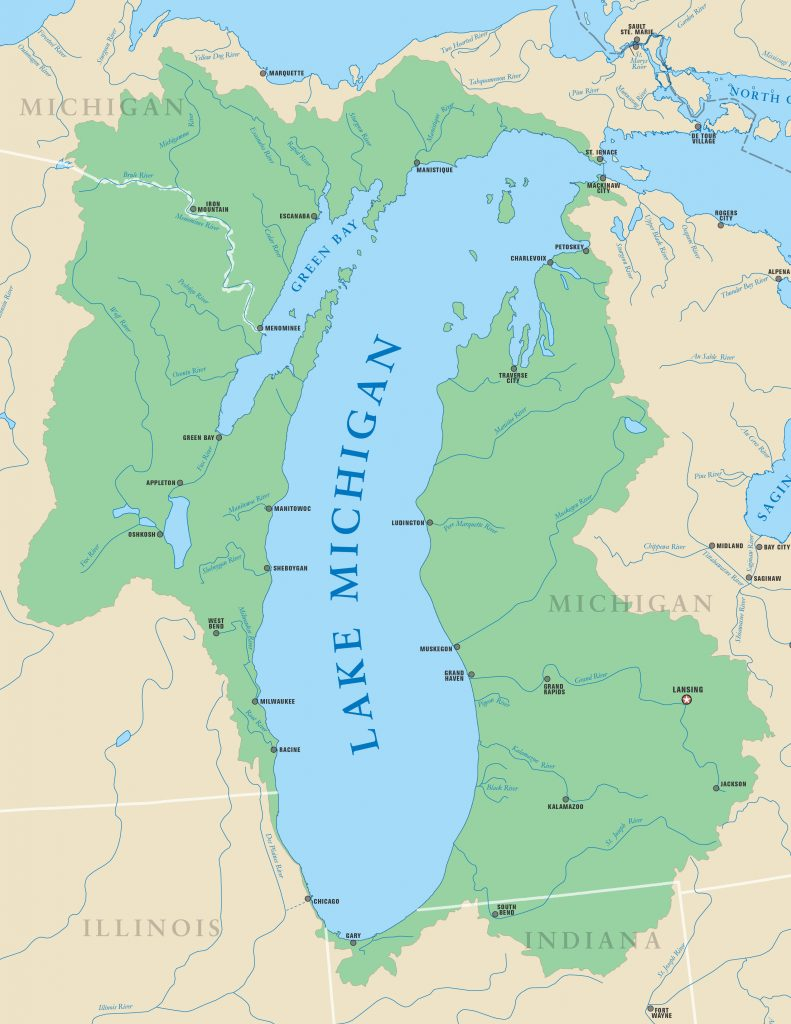 10 Kitchen And Home Decor Items Every 20 Something Needs: 10-705 Great Lakes Basin Map 25x37-rev22