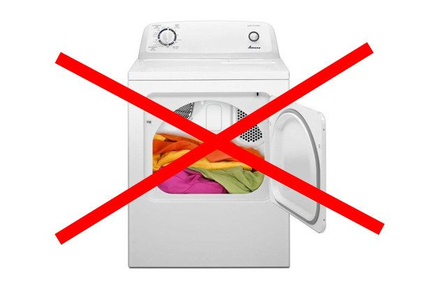 do not put in dryer sign