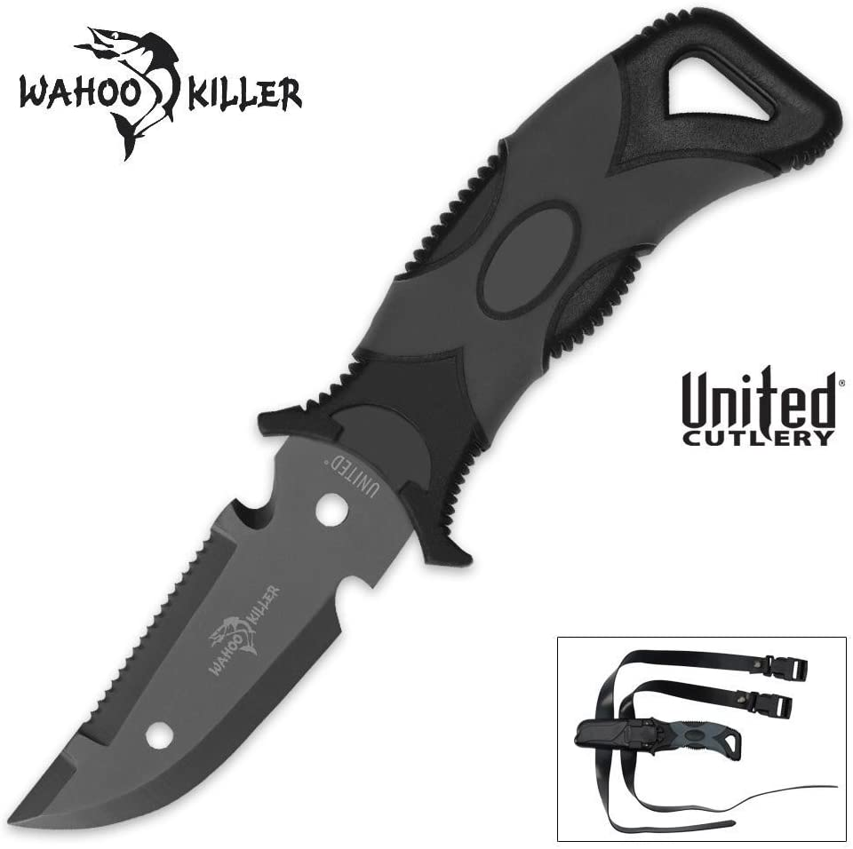 Wahoo Killer Scuba Dive Knife With Sheath